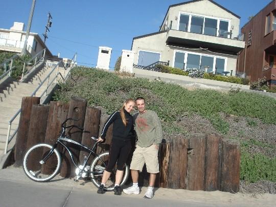 Passeio de bicicleta nas praias da California