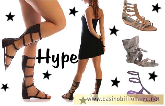 Sandálias gladiadora estão com tudo