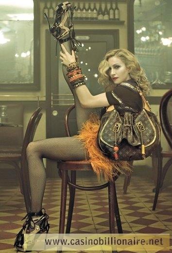 Madonna na campanha da grife Louis Vuitton